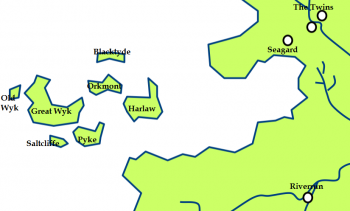 The Iron Islands and the location of Lordsport